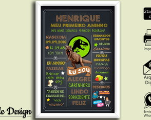 CHALKBOARD ARTE DIGITAL JURASSIC WORLD