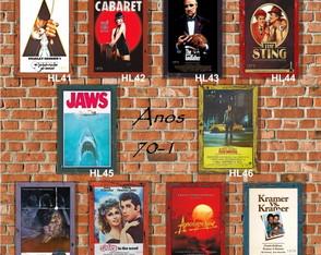 10 Quadros Decorativos Cinema Anos 70