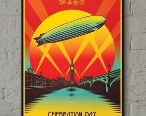 Pôster Led Zeppelin Celebration Day A3 c/ mold.