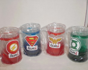 Caneca Gel Congelante de 350ml Super Heroes