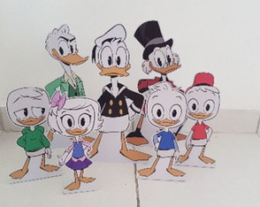 kit com 7 personagens duck tales
