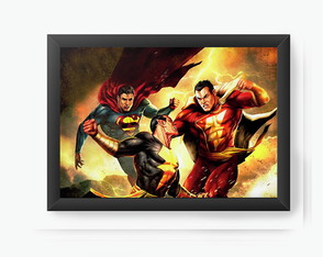 Quadro Decorativo Supermen vs Flash cod79