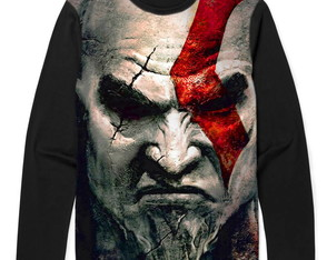 Camiseta Manga Longa God of War Kratos