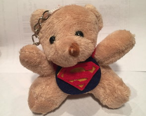 Mini urso de pelúcia Super Man