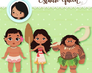 Kit Digital Moana - ClipArt