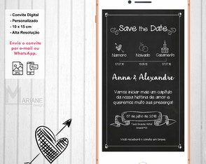 Save The Date Casamento - Chalkboard
