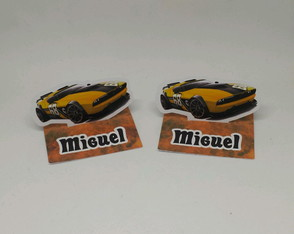Aplique 3D Hot Wheels