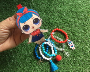 KIT LOL BB Bop - Mix Pulseiras + Tiara Feltro by Vic