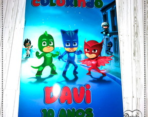 Revista Colorir PJ Masks