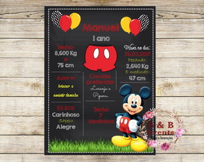Arte Digital Chalkboard Mickey