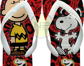 Chinelo Havaianas Personalizados Snoopy & Charlie Brown