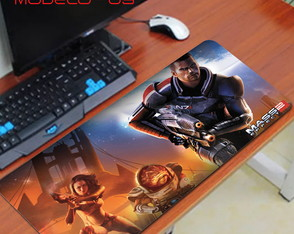 Mouse Pad Gamer Mass Effect 1 2 3 e Andrômeda - 44x25 cm