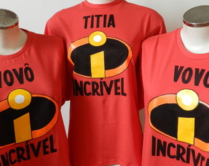 KIT c/ 3 Camisetas- FAMILIA INCRIVEL