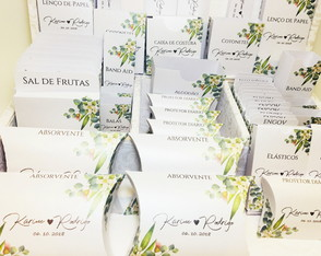 Embalagens para Kit Toalete COMPACTO Floral Verde