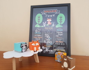 Chalkboard A3 - Animais do Bosque