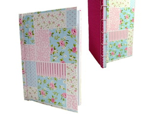 Caderno Modelo Floral Patches 14x21cm