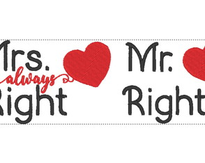 Matriz de bordado Casamento - Mrs Right