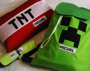 Kit Festa do Pijama Minecraft