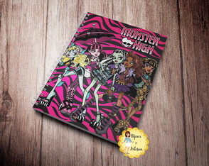Arquivo Digital Folha Monster High p Caderno - AD017