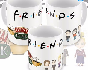 Caneca Seriado Friends Personagens Cartoon Mod 01