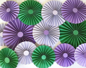 Painel COLORS Roxo e Verde GLAM 13