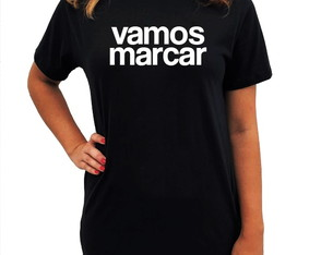CAMISETA LONG - VAMOS MARCAR