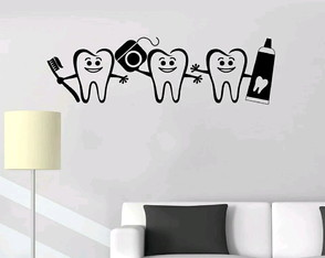Adesivo Decorativo Dental Clínica Dentista Pediatra