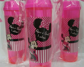 Minnie copo com tampa canudo 300ml