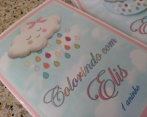 Kit Colorir Chuva de Amor com massinha 15 cm X 21 cm
