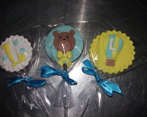 Pirulitos de chocolate decorados tema Urso