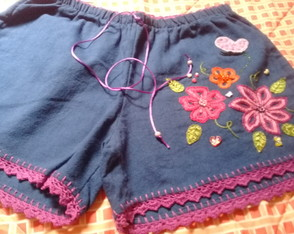 Short adulto bordado M ( 22 )