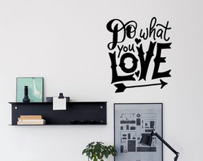 Adesivo poster estilo tumblr frase do what you love