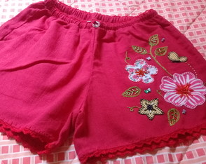 Short adulto bordado M ( 25 )