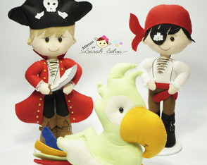 Kit piratas de feltro