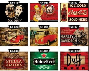 Placas Decorativas Grandes Bar Churrasco Bebidas Pop 30x45cm