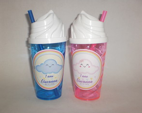 Copo Chantilly c/ Canudo de 500ml Chuvas de Amor