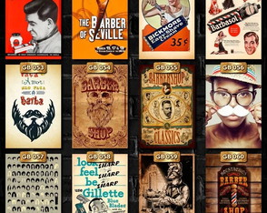 Quadros Placas Barbearia Grandes Decorativa Retrô Vintage 30