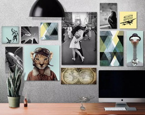 Kit 11 Placas Quadros Decorativos Home Office Quarto