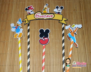 Cake Topper Turma do Mickey