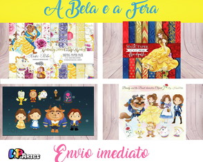 Kit Digital Scrapbook - A Bela e a Fera