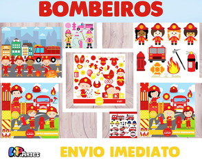 Kit Digital Scrapbook - BOMBEIROS