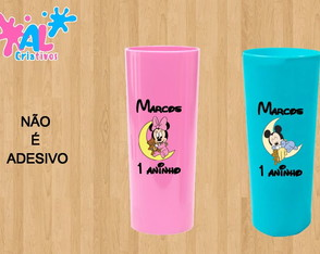 Copos Long Drink Personalizados 350ML - Mickey Baby