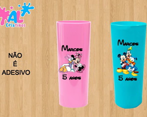 Copos Long Drink Personalizados 350ML - Turma do Mickey