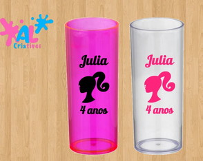 Copos Long Drink Personalizados 350ML - Barbie