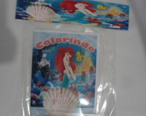 Kit Colorir Ariel Princesas