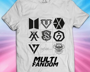 Camisa Multi Fandom K-pop - Unissex