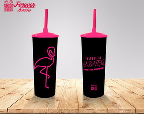 copos long drink flamingo.