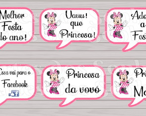 Placas Divertidas Minnie Rosa
