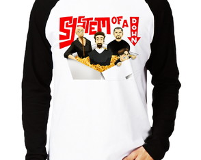 Camiseta System of a Down Raglan Longa
