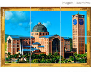 Quadro Azulejo Santuario Aparecida do norte